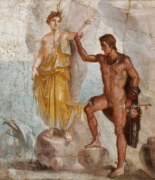 Andromeda rescued by Perseus: Fresco, Pompeii (c) Gillian Hovell