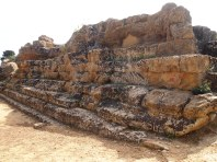 Base of Temple to Zeus Agrigento Muddy Archaeologist Gillian Hovell