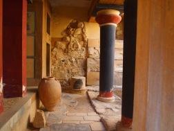 Minoan Knossos, Crete Muddy Archaeologist Gillian Hovell
